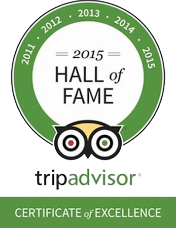 TripAdvisor hall of fame certificate if excellence