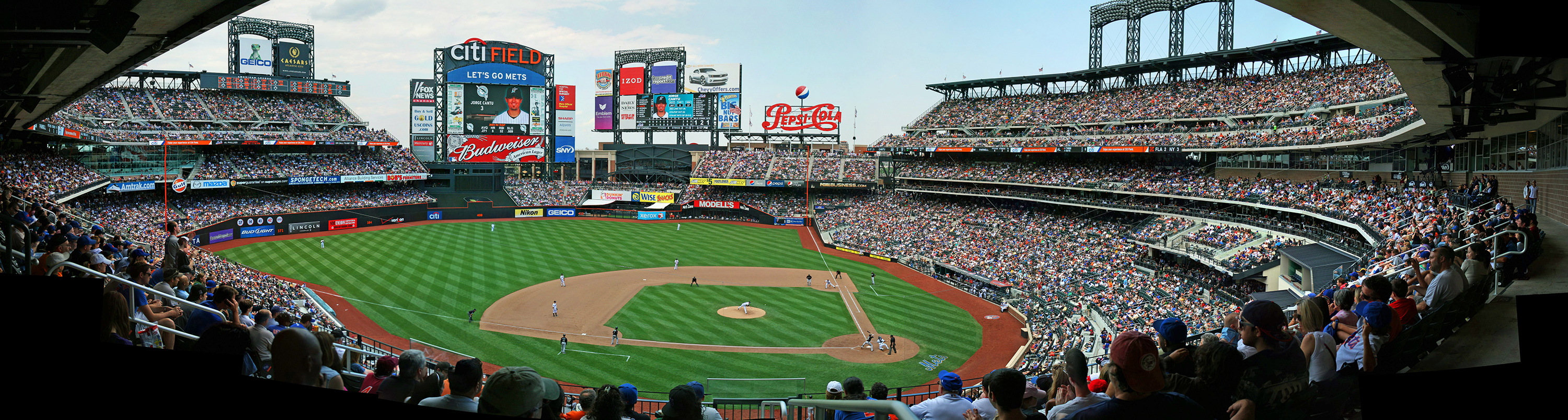 baseball field at Citifield